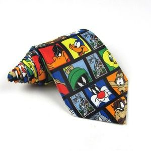 Looney Tunes Stamp Collection Tie - 3.875""